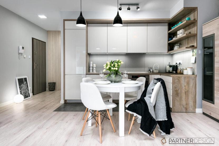 Inspiracje Partner Design Mieszkanie dla młodej pary